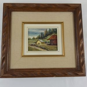 - Framed painting signed L. Marchand